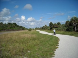 Paved Trail at Ft Desoto Park enjoyed by walkers, bikers, and roller blade lovers(photo by Jake LeClaire)