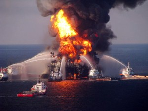 The Deepwater Horizon In Flames